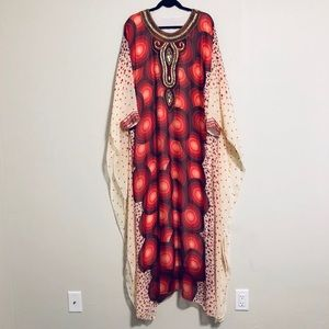 NEW Red & Gold Beaded and Embellished Kaftan